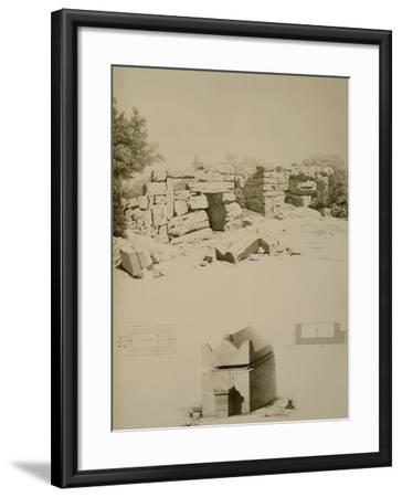 Phoenician Houses and Tombs Near Oum-El-Aouamid--Framed Giclee Print