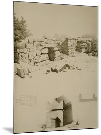 Phoenician Houses and Tombs Near Oum-El-Aouamid--Mounted Giclee Print