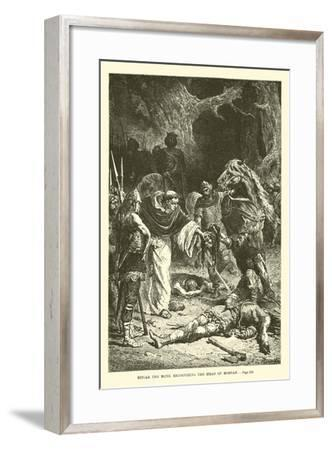 Ditcar the Monk Recognizing the Head of Morvan--Framed Giclee Print