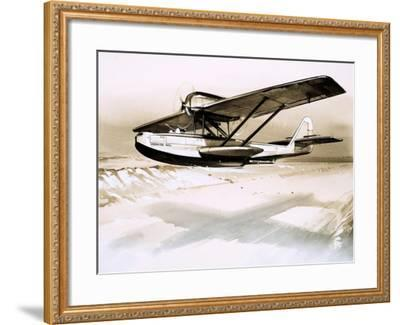 Dornier Wal, Twin-Engined German Flying Boat--Framed Giclee Print