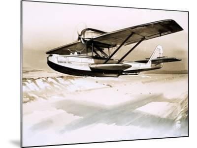 Dornier Wal, Twin-Engined German Flying Boat--Mounted Giclee Print