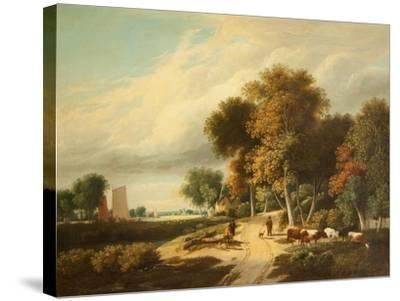 A Scene in Norfolk-Samuel David Colkett-Stretched Canvas Print