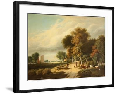 A Scene in Norfolk-Samuel David Colkett-Framed Giclee Print