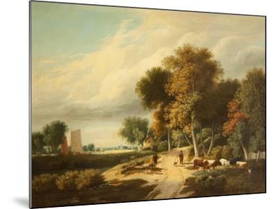 A Scene in Norfolk-Samuel David Colkett-Mounted Giclee Print