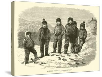 Modern Greenland Children--Stretched Canvas Print
