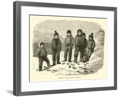 Modern Greenland Children--Framed Giclee Print