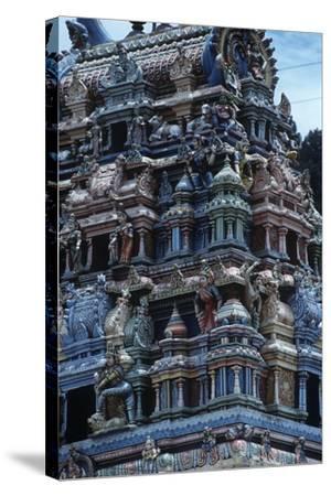 Sri Lanka, Sacred City of Kandy, Tamil Temple--Stretched Canvas Print