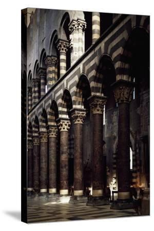Interior of St Lawrence--Stretched Canvas Print