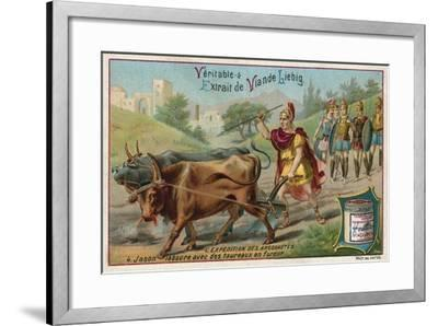 Jason Ploughing with the Fire-Breathing Oxen--Framed Giclee Print