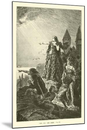 """See, See,"" She Cried--Mounted Giclee Print"