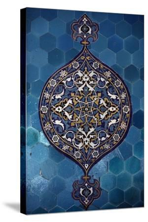 Decorative Tiles, Yesil Turbe--Stretched Canvas Print