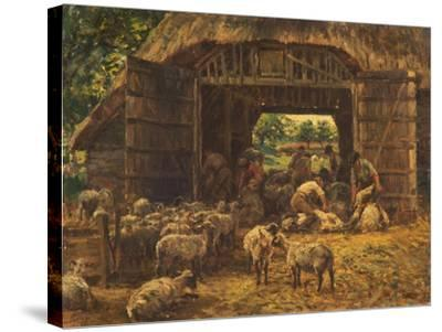 Sheep Shearing, 1892-William Mark Fisher-Stretched Canvas Print