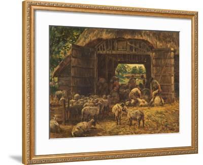 Sheep Shearing, 1892-William Mark Fisher-Framed Giclee Print