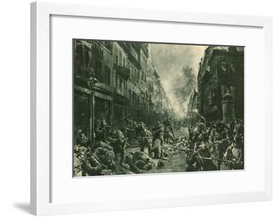 Battle at Night in Mulhausen-Felix Schwormstadt-Framed Giclee Print