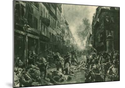 Battle at Night in Mulhausen-Felix Schwormstadt-Mounted Giclee Print