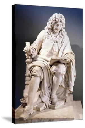 Marble Statue of Jean Racine--Stretched Canvas Print