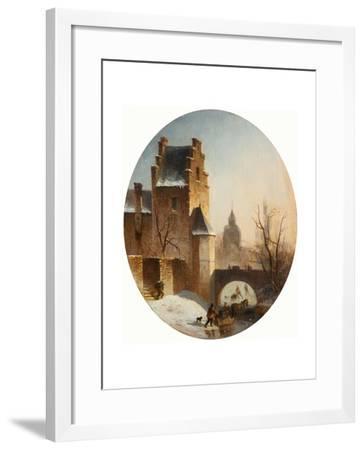 Winter Scene--Framed Giclee Print