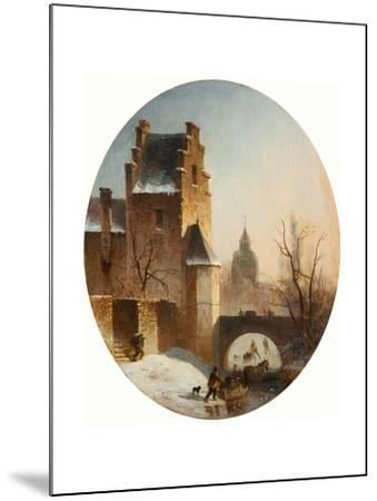Winter Scene--Mounted Giclee Print