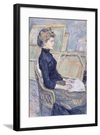 Model in Study--Framed Giclee Print