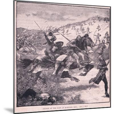 Charge of the Scots at Homildon Hill Ad 1402-Walter Paget-Mounted Giclee Print