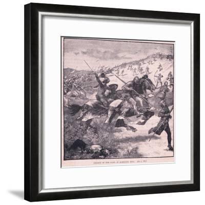 Charge of the Scots at Homildon Hill Ad 1402-Walter Paget-Framed Giclee Print