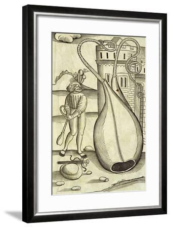 Fire-Bags, Engraving from De Re Militari--Framed Giclee Print
