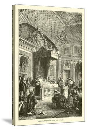The Death-Bed of Louis XIV--Stretched Canvas Print