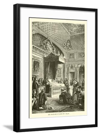 The Death-Bed of Louis XIV--Framed Giclee Print