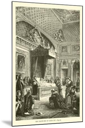 The Death-Bed of Louis XIV--Mounted Giclee Print
