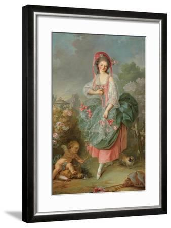 Portrait of Mademoiselle Guimard as Terpsichore-Jacques-Louis David-Framed Giclee Print