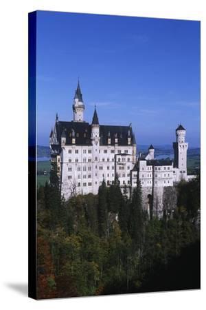 Germany, Bavaria, Neuschwanstein Castle--Stretched Canvas Print