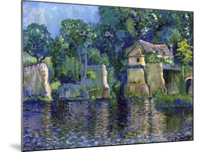 Vernon, Near Giverny, 1909-Theodore Earl Butler-Mounted Giclee Print