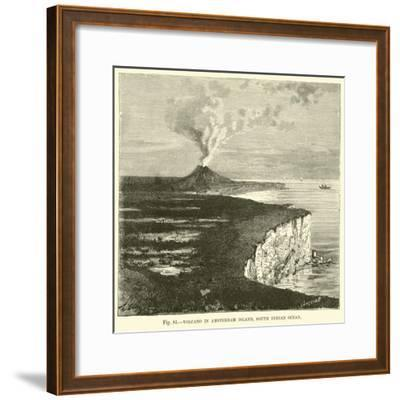 Volcano in Amsterdam Island, South Indian Ocean--Framed Giclee Print