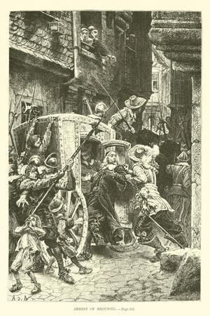 Arrest of Broussel--Stretched Canvas Print