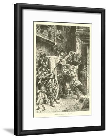 Arrest of Broussel--Framed Giclee Print