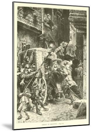 Arrest of Broussel--Mounted Giclee Print