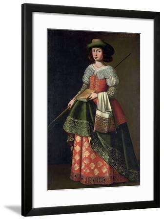 Saint Margaret of Antioch as a Shepherdess-Ignacio de Ries-Framed Giclee Print