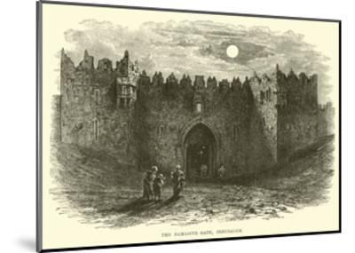 The Damascus Gate, Jerusalem--Mounted Giclee Print