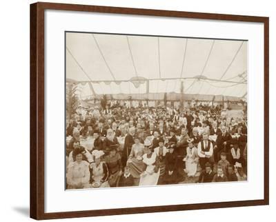 Reunion Luncheon, 1st January 1903--Framed Photographic Print