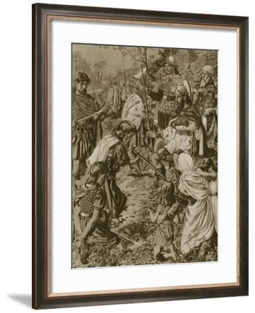 Guthrum's Submission to Alfred the Great--Framed Giclee Print