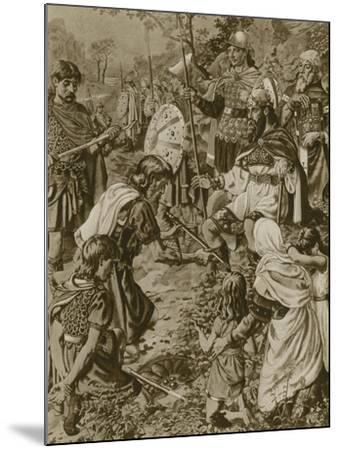 Guthrum's Submission to Alfred the Great--Mounted Giclee Print