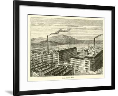York Street Mill--Framed Giclee Print