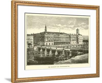 The Exchange and Friedrichsbrucke--Framed Giclee Print