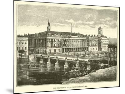 The Exchange and Friedrichsbrucke--Mounted Giclee Print