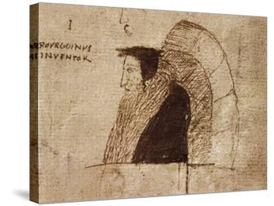 Portrait of Giovanni Calvino--Stretched Canvas Print
