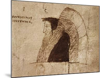 Portrait of Giovanni Calvino--Mounted Giclee Print