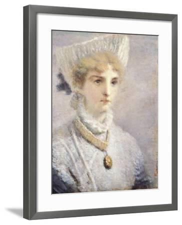 Girl in White-Daniele Ranzoni-Framed Giclee Print