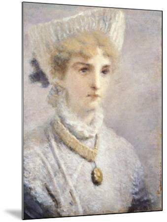 Girl in White-Daniele Ranzoni-Mounted Giclee Print