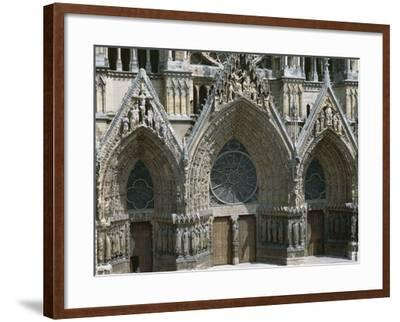 Doors of West Facade of Cathedral of Notre-Dame--Framed Photographic Print