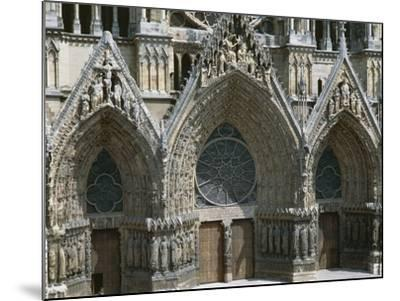Doors of West Facade of Cathedral of Notre-Dame--Mounted Photographic Print